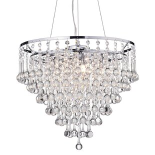 Crystal chandeliers youll love wayfair hera 5 light chandelier aloadofball Images