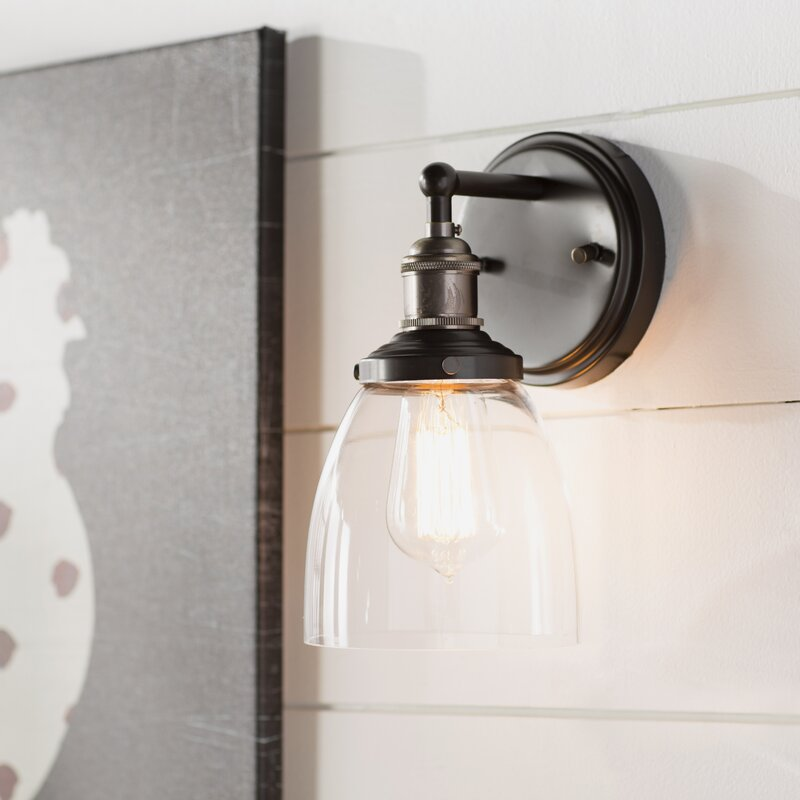 Laurel foundry modern farmhouse sandy springs 1 light wall sconce sandy springs 1 light wall sconce aloadofball Image collections