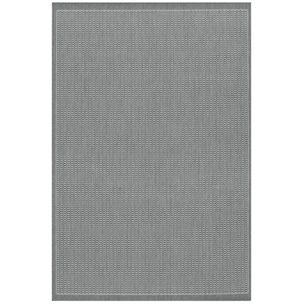 Charlton Home Ariadne Saddle Stitch Gray Indoor/Outdoor Area Rug ...