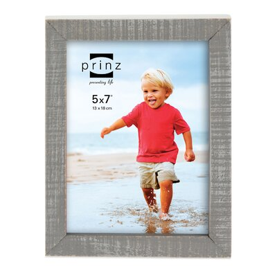 Prinz Sweet Water Distressed Solid Wood Picture Frame Size: 8 x 10, Color: Gray