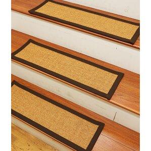 dawes sisal carpet gold stair tread set of 13 - Stair Tread