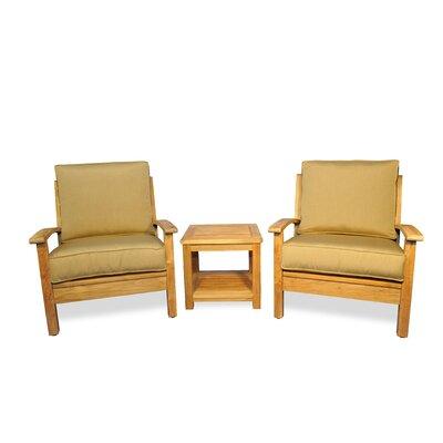 Regal Teak Teak 3 Piece Conversation Set with Sunbrella Cushions