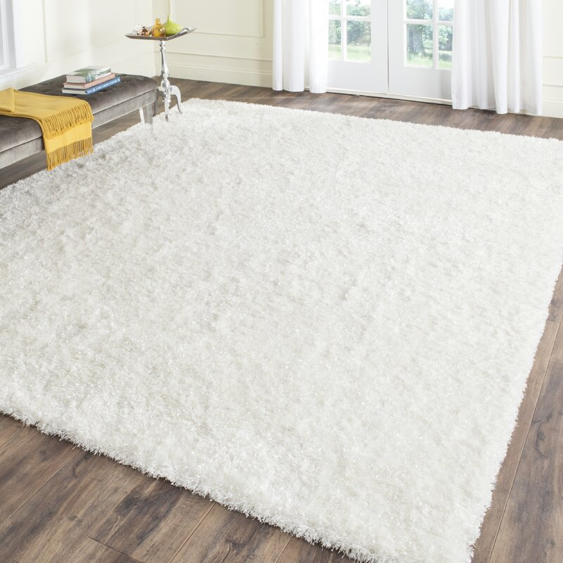 wade logan chesa hand-tufted white area rug & reviews | wayfair