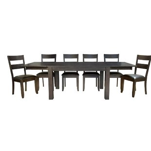 Lolington 7 Piece Extendable Solid Wood Dining Set