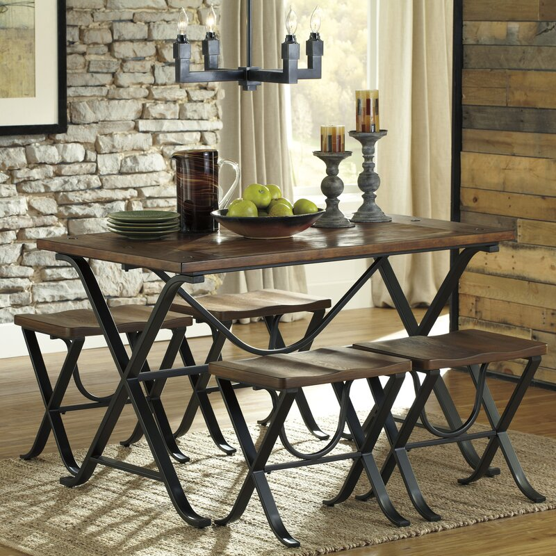 5 Piece Dining Sets loon peak jaden 5 piece dining set & reviews | wayfair