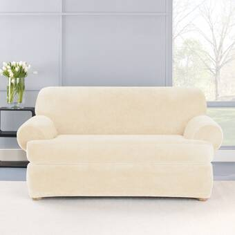 Sure Fit Ultimate Heavyweight Stretch Suede T-Cushion Sofa ...