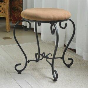 bramhall round iron vanity stool