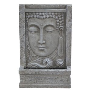 Modern Home Natural Stone Courtyard Buddha Head Wall Mount/Floor Waterfall  Fountain