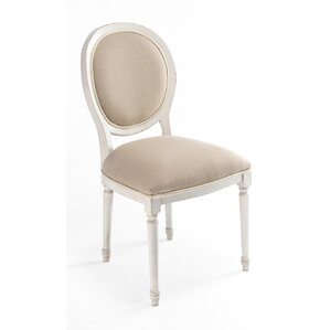 Round Back Upholstered Dining Chair by Sarreid Ltd