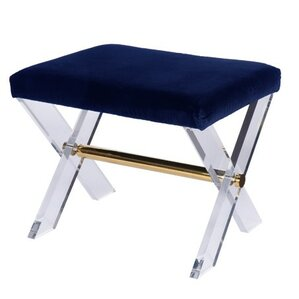 x lucite base vanity stool