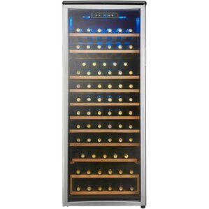 75 Bottle Single Zone Freestanding Wine Cooler by Danby