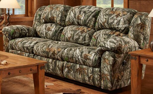 Cambridge Camo Double Reclining Sofa | Wayfair