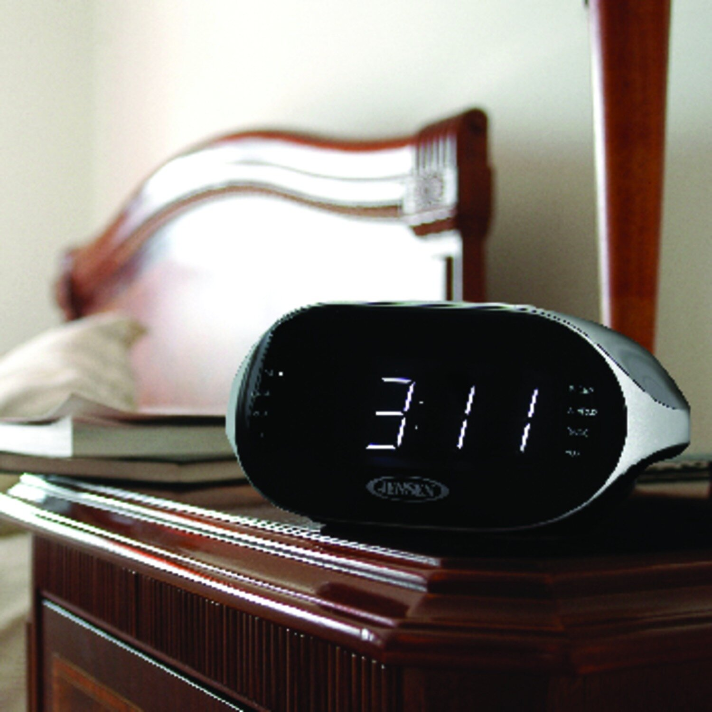 Incroyable Jensen Mobile Digital Bluetooth AM/FM Dual Alarm Radio Tabletop Clock |  Wayfair