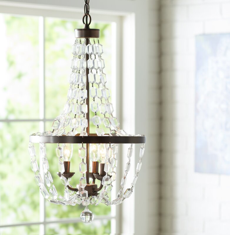 Araja 3-Light Empire Chandelier