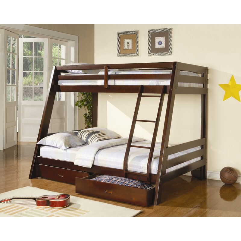 Wildon Home Mullin Twin Over Full Bunk Bed With Storage Reviews Wayfair