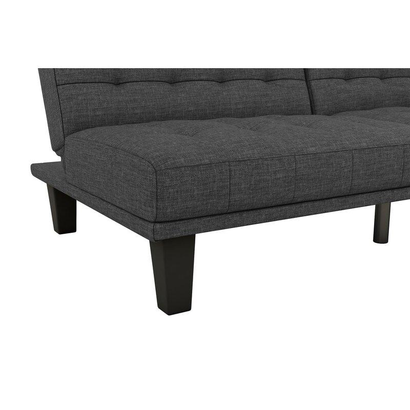 wade logan haysi futon lounger convertible sofa reviews wayfair rh wayfair com black futon sofa montreal black futon sofa bed