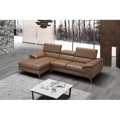 Beige Amp Brown Leather Sectionals You Ll Love In 2019 Wayfair