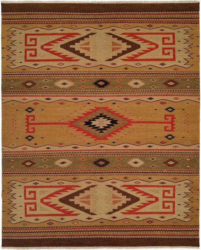 Métro tapis tissés à la main Beige/marron