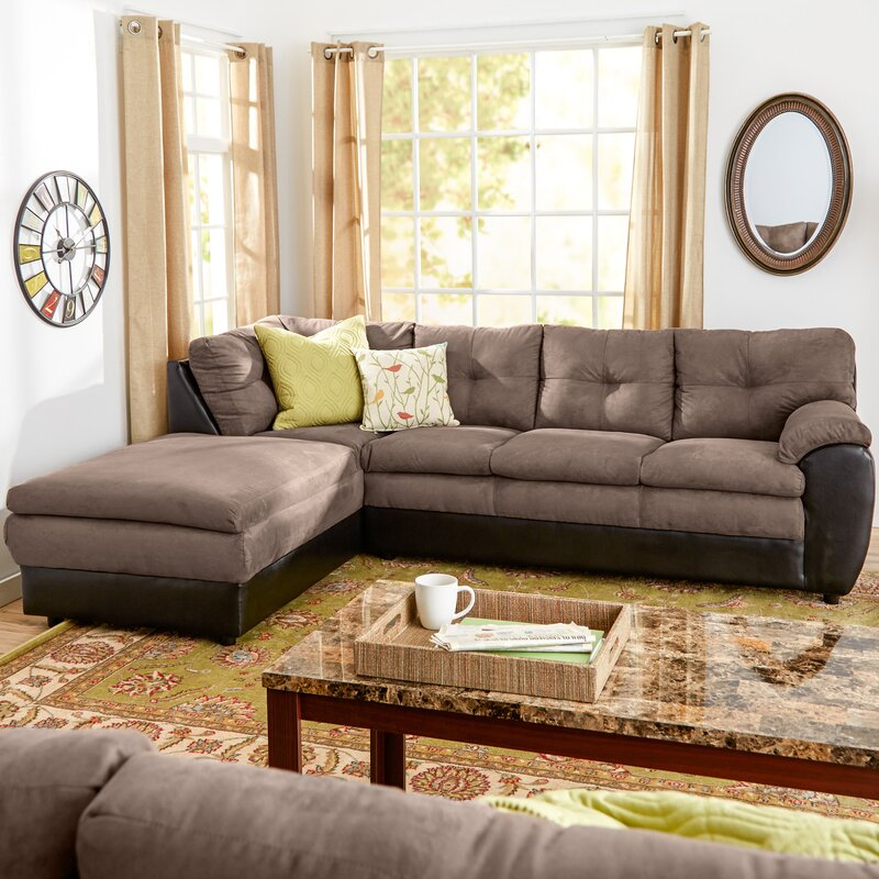 Brewster Reversible Sectional : brown microfiber sectional sofa - Sectionals, Sofas & Couches