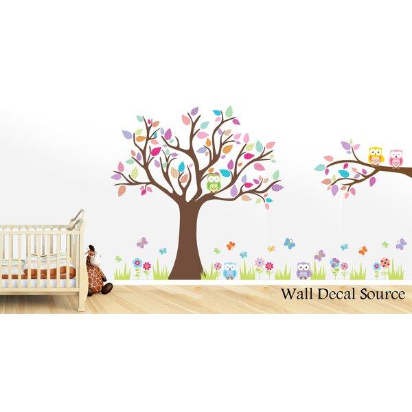Tree And Owl Nursery Wall Decal