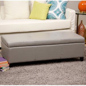 Sharon Faux Leather Storage Bench