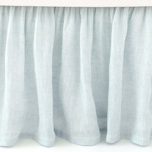 savannah linen bed skirt