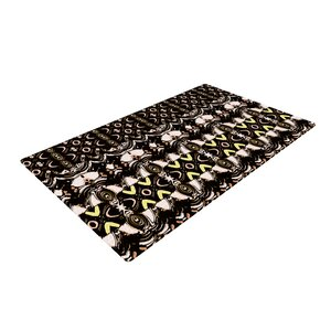 Dawid Roc the Palace Walls Brown/Black Area Rug