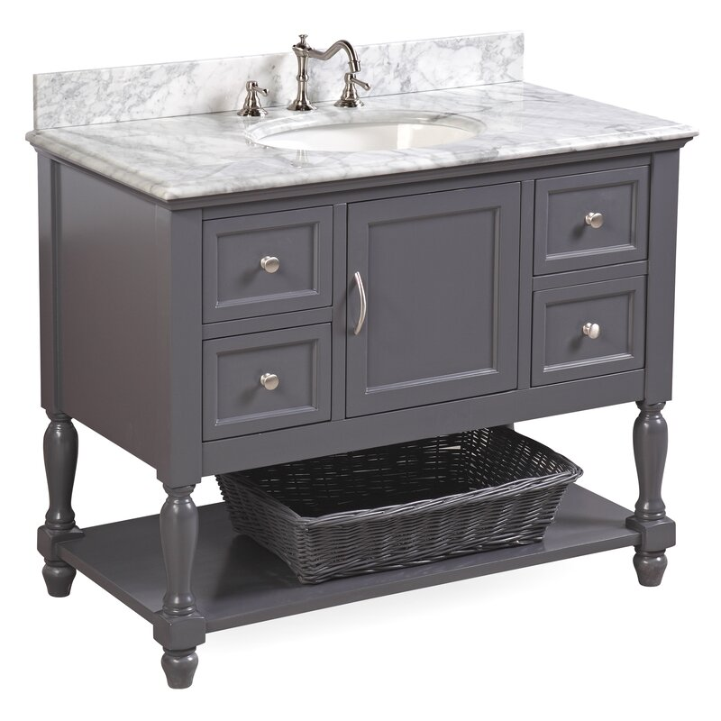 "KBC Beverly 42"" Single Bathroom Vanity Set & Reviews 