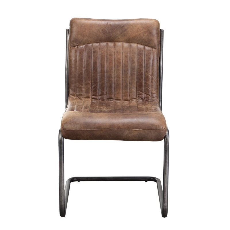 Wholesale Dining Room Chairs: 17 Stories Belmiro Modern Genuine Leather Upholstered