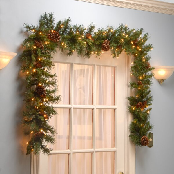The Holiday Aisle Pine Cone Garland Amp Reviews Wayfair Ca