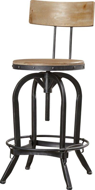 Oria Adjustable Height Swivel Bar Stool