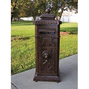 Locking Column Mailbox | Wayfair