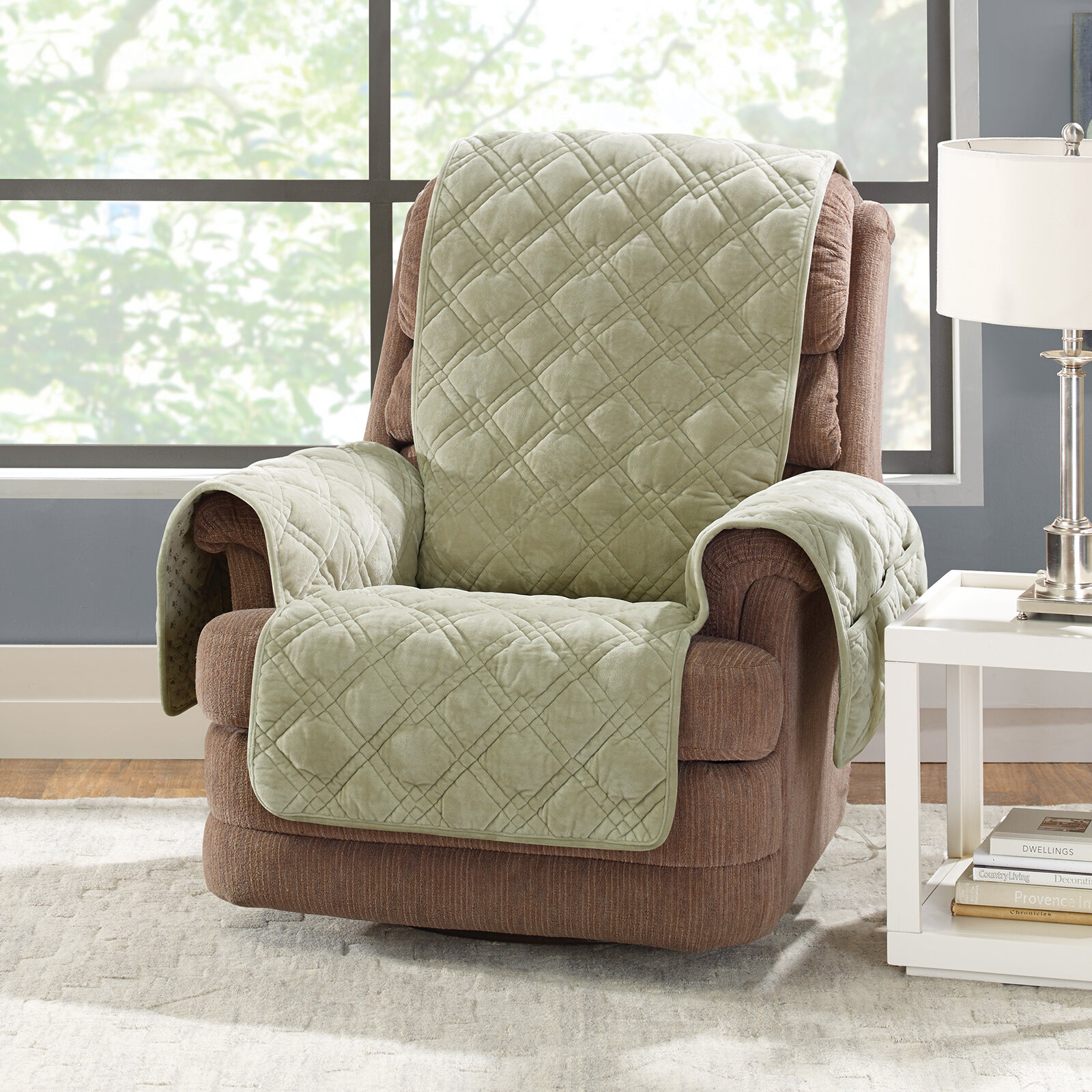 slip diy chair with slipcover slipcovers furniture magnificent for recliners recliner covers throughout