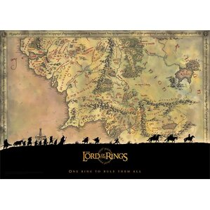 Magnetic j world map wayfair lord of the rings trilogy middle earth graphic gumiabroncs Gallery