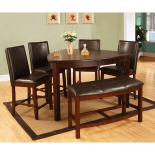 6 Piece Counter Height Dining Set & Pub Table Set With Bench | Wayfair