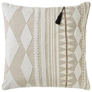 brightwood tribal pattern linen throw pillow