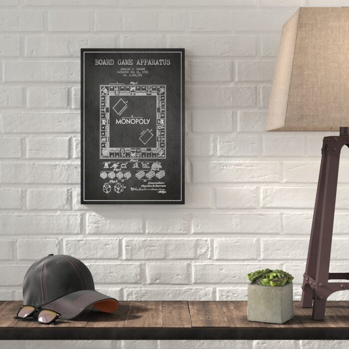Williston forge monopoly charcoal patent blueprint graphic art on monopoly charcoal patent blueprint graphic art on wrapped canvas malvernweather Image collections