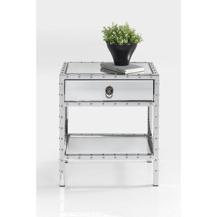 kare design beistelltisch rivet mit stauraum bewertungen. Black Bedroom Furniture Sets. Home Design Ideas