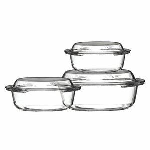 3-Piece Glass Round Casserole-Set