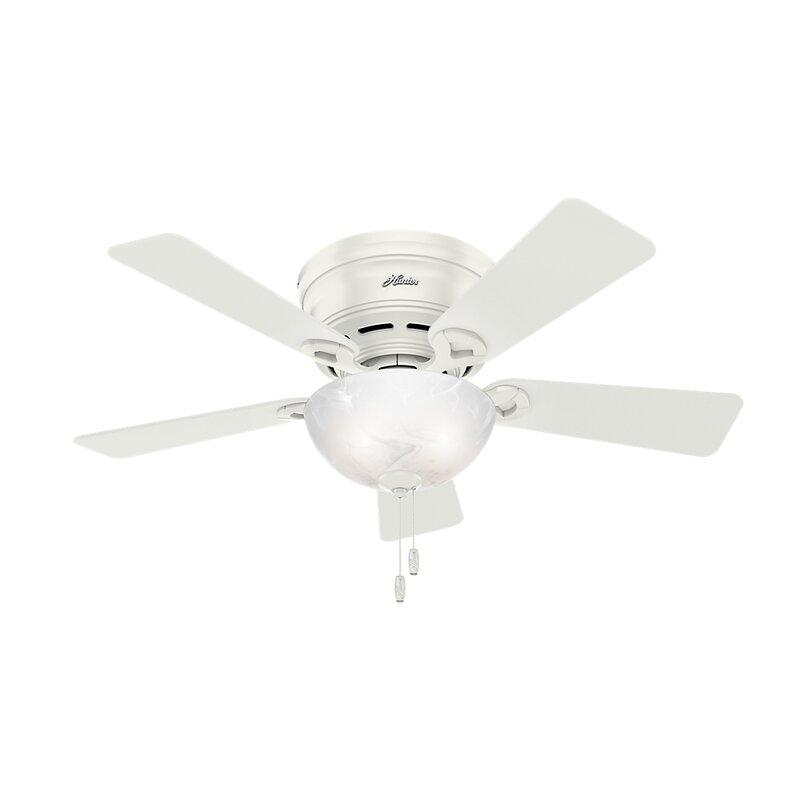 "Ceiling Fan 42 High Quality With Light: Hunter Fan 42"" Haskell 5 Blade Ceiling Fan With Light"
