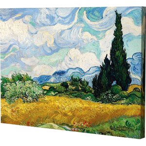 Cypress by Vincent Van Gogh Painting Print on Wrapped Canvas