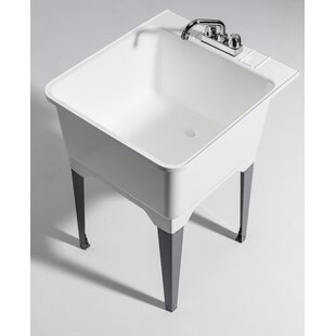 22 75 X 25 Freestanding Laundry Sink With Faucet