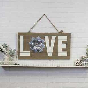 Vintage Wooden Love Sign Wall Decor