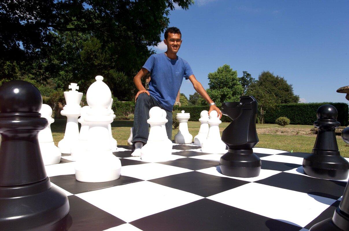 Open Foyer Chess : Customgamesource giant outdoor chess game reviews wayfair
