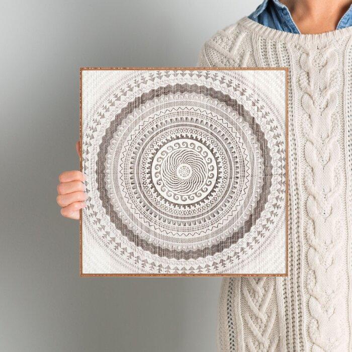 Mistana \'Winter Wheat\' Framed Graphic Art & Reviews | Wayfair.ca