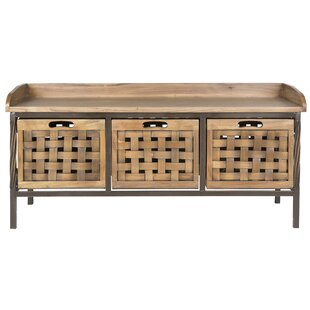 Isabella Wood Storage Bench by Home Loft Concept