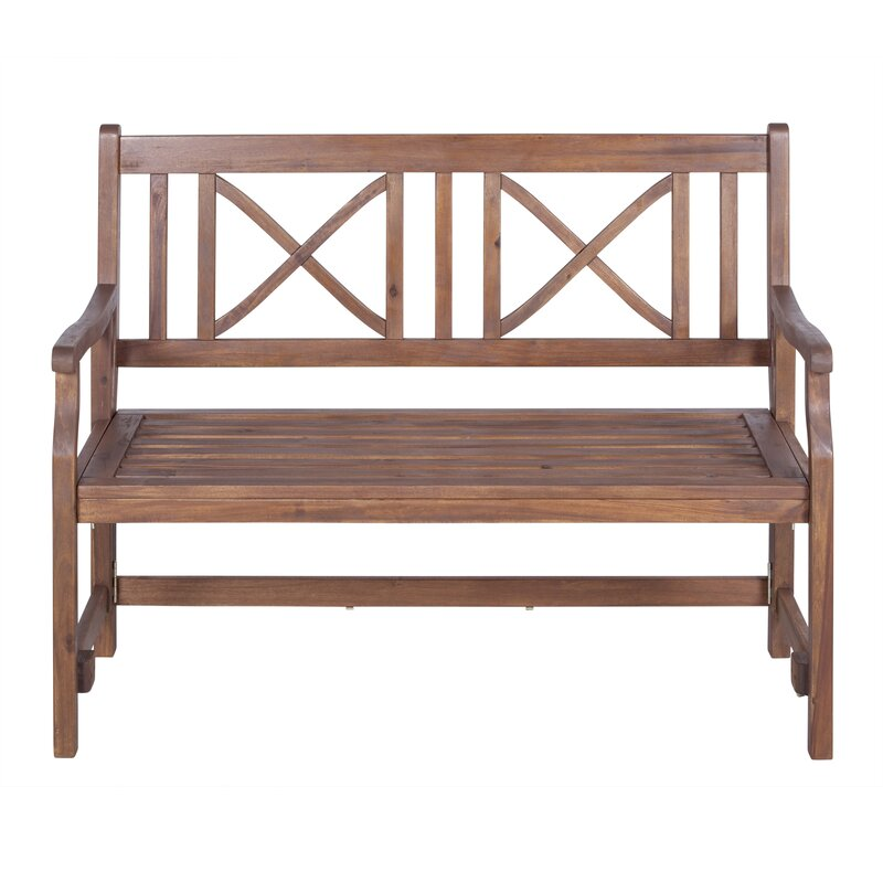 Exceptional Conner Folding Acacia Wood Garden Bench