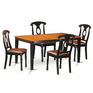 Cleobury 5 Piece Wood Dining Set with Rectangular Table Top