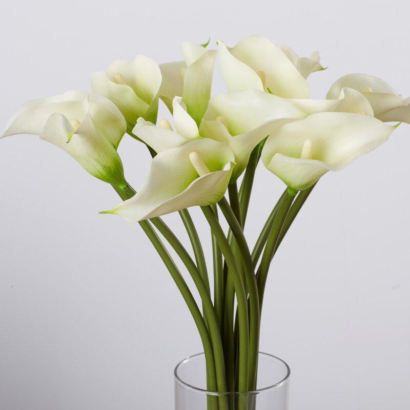 Willa Arlo Interiors Calla Lily Flower Arrangement In Flower Vase