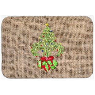 Christmas Tree Fleur De Lis Kitchen/Bath Mat